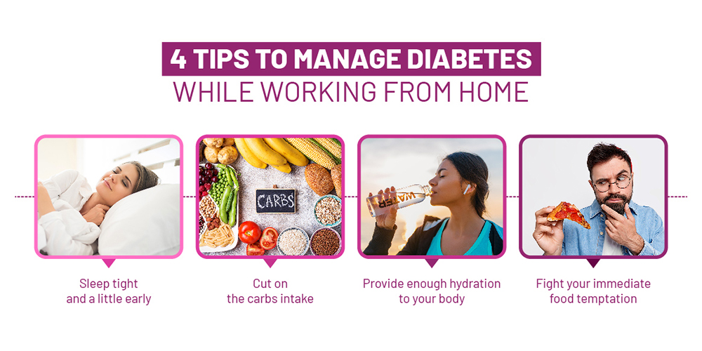Tips to Manage Diabetes While Working from Home