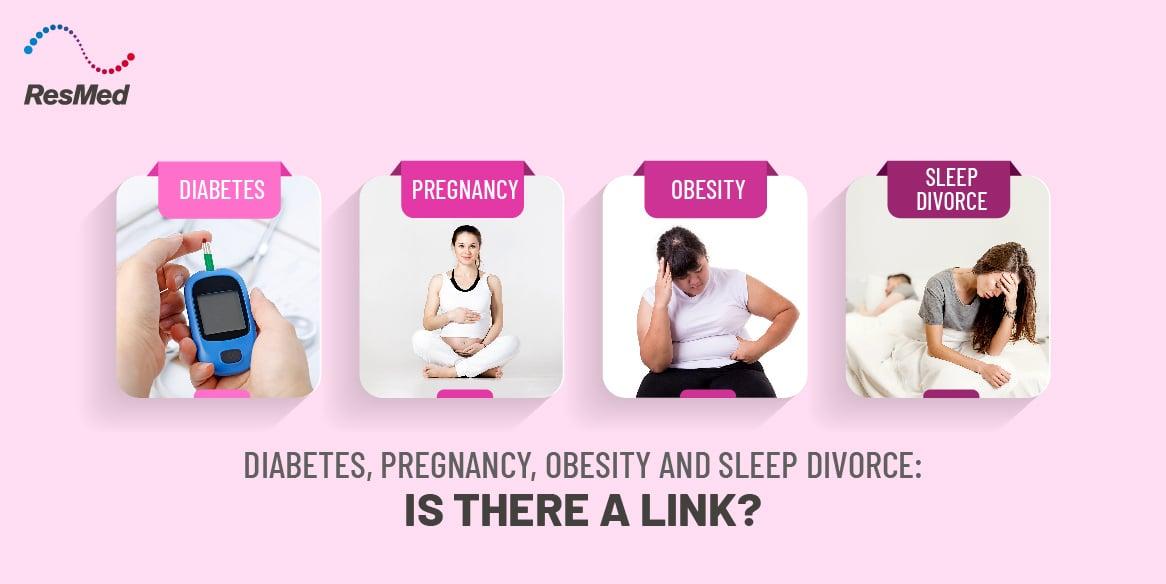 Link between Diabetes, Pregnancy, Obesity and Sleep Divorce